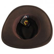 Olive Green Crushable Wool Felt Outback Hat alternate view 8