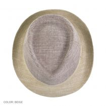 Color Block C-Crown Linen Fedora Hat