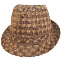Plaid Toyo Straw Fedora Hat alternate view 6