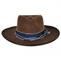 Talpa Wide Brim Wool Felt Fedora Hat alternate view 2