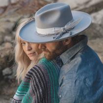 Oceanus Wide Brim Wool Felt Fedora Hat alternate view 5
