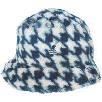 Houndstooth Faux Fur Bucket Hat alternate view 2
