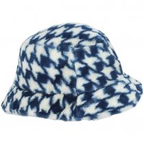 Houndstooth Faux Fur Bucket Hat alternate view 3