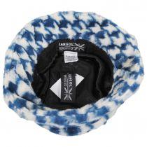 Houndstooth Faux Fur Bucket Hat alternate view 4
