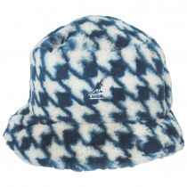 Houndstooth Faux Fur Bucket Hat alternate view 6
