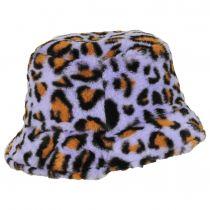 Leopard Faux Fur Bucket Hat alternate view 3
