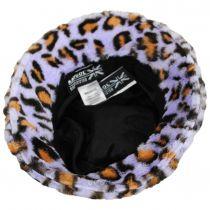 Leopard Faux Fur Bucket Hat alternate view 4