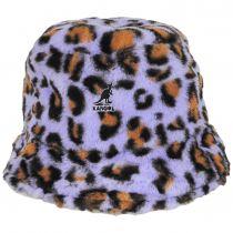 Leopard Faux Fur Bucket Hat alternate view 6
