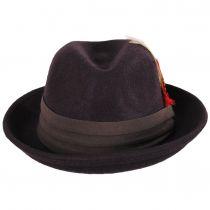Kid's Blues Crushable Wool Felt Trilby Fedora Hat alternate view 10