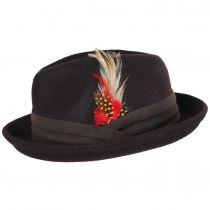 Kid's Blues Crushable Wool Felt Trilby Fedora Hat alternate view 11