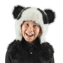 Panda Bear Hug Trapper Hat in