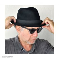 Blues Crushable Wool Felt Trilby Fedora Hat alternate view 6