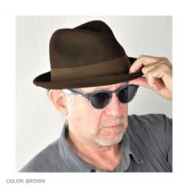 Blues Crushable Wool Felt Trilby Fedora Hat alternate view 16