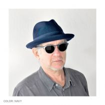 Blues Crushable Wool Felt Trilby Fedora Hat alternate view 64