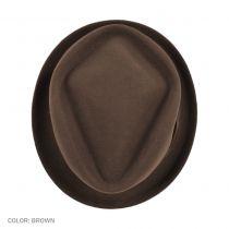 Crushable Wool Felt Diamond Crown Fedora Hat in