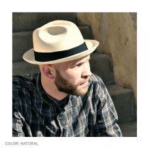 Panama Straw Trilby Fedora Hat alternate view 8