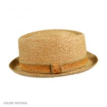 Raffia Diamond Crown Pork Pie Hat