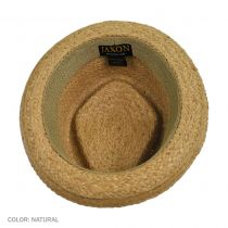 Raffia Straw Diamond Crown Fedora Hat