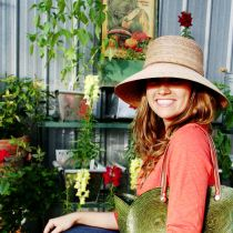 Abby Palm Straw Cloche Hat in