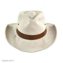 Cotton Twill Outback Fedora Hat in