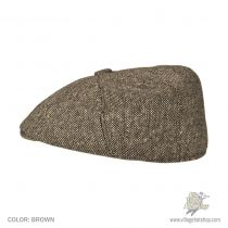 Marl Tweed Wool Blend Newsboy Cap in
