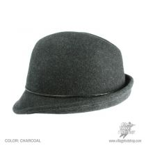 Leather Bow Fedora Hat - Classic Colors