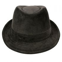 Corduroy C-Crown Trilby Fedora Hat alternate view 2