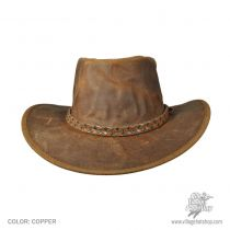 Crusher Leather Outback Western Hat