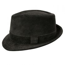 Corduroy C-Crown Trilby Fedora Hat alternate view 3