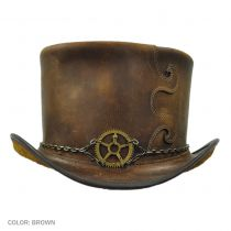Curio Leather Top Hat