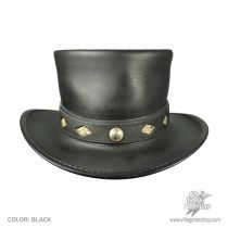 Diamond Leather Top Hat