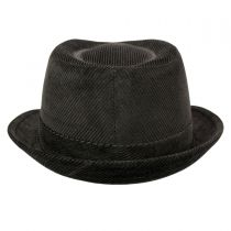 Corduroy C-Crown Stingy Brim Fedora Hat