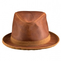 Soho Crushable Leather Trilby Fedora Hat
