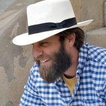 Novo Grade 8 Panama Straw Fedora Hat in