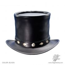 Stove Piper Leather Top Hat in