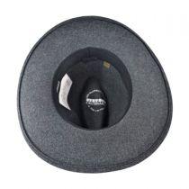 Grey Bull Crushable Wool Felt Aussie Hat in