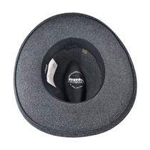 Grey Bull Crushable Wool Felt Aussie Hat alternate view 4