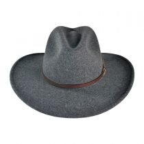 Gray Bull Crushable Wool Felt Aussie Hat in