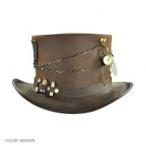 Trinket Ammo Band Leather Top Hat in