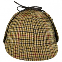 British Wool Checkered Sherlock Holmes Hat