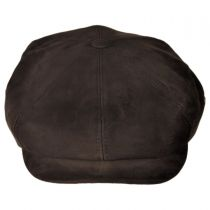 Matte Nappa Leather Newsboy Cap alternate view 6