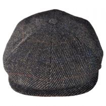 6 Piece Harris Tweed Plaid Newsboy Cap