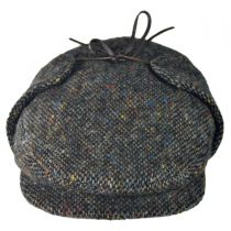 Donegal Tweed Tic Weave Ivy Cap with Earlaps