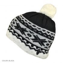 Kids' Cream Knit Beanie Hat in