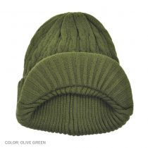 Cable Knit Visor Beanie Hat