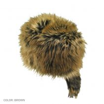 Crockett Coonskin Faux Fur Cap