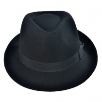 Detroit Wool Felt Trilby Fedora Hat - Black alternate view 2