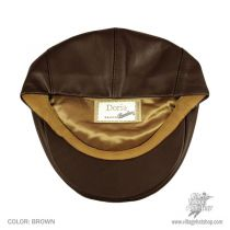Borsalino Leather Ivy Cap