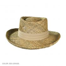 Pebble Beach Seagrass Straw Gambler Hat in
