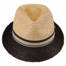 Trinidad Raffia Straw Trilby Fedora Hat alternate view 2